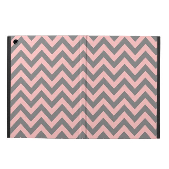 Pink and Grey Zigzag 2 Case For iPad