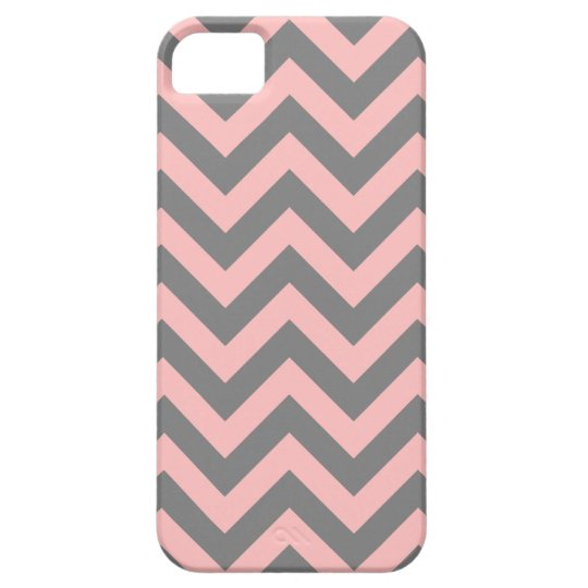 Pink and Grey Zigzag iPhone 5 Cases
