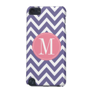 Pink and Lavender Chevron Custom Monogram iPod Touch 5G Case