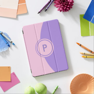 Pink and Lavender Monogram iPad Pro Cover
