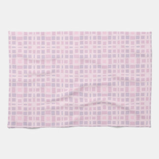 Pink and Lavender Mosaic Pattern Tea Towel