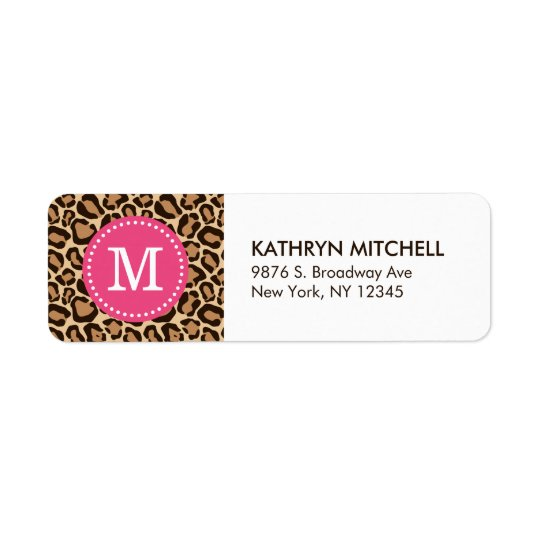 Pink and Leopard Print Custom Monogram