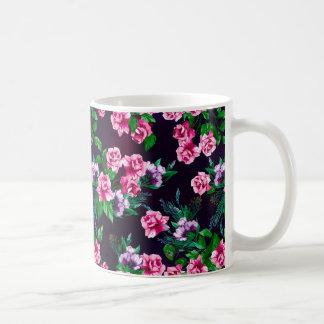 pink and lilac floral mug
