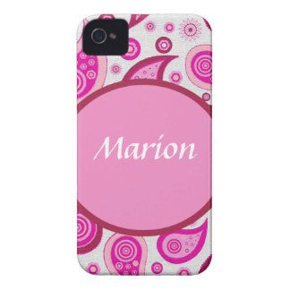 Pink and lilac paisley pattern Case-Mate iPhone 4 case