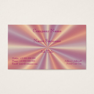 Pink and Lilac Pleats Business Card
