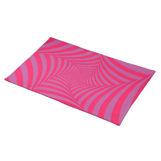 Pink and Lilac Spiral American MoJo Placemats