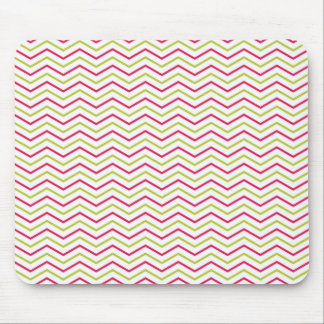 Pink and Lime Chevron Mouse Pad