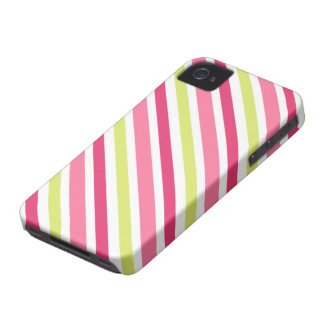 Pink and lime green candy stripes BlackBerry case