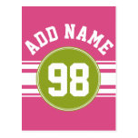 Pink and Lime Sports Jersey Custom Name Number