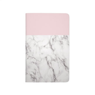 Pink and Marble Notebook Journal