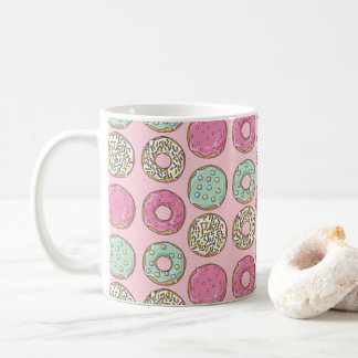 Pink and Mint Doughnut Print Coffee Mug