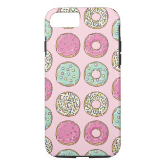 Pink and Mint Doughnut Print Phone Case