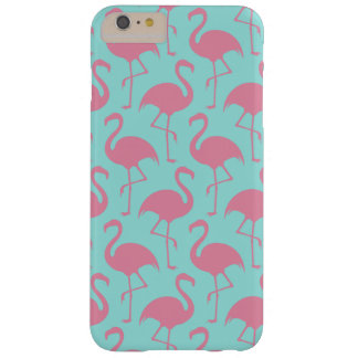 Pink and mint flamingo iPhone case
