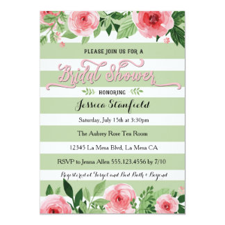 Pink and Mint Green Bridal Shower invitation