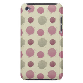Pink and Mint Painted Abstract iPod Touch Cover