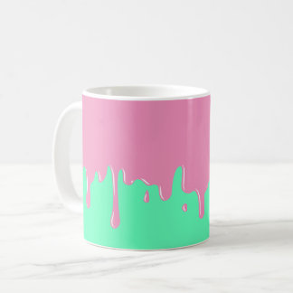 Pink and Mint Slime Dripping Mug