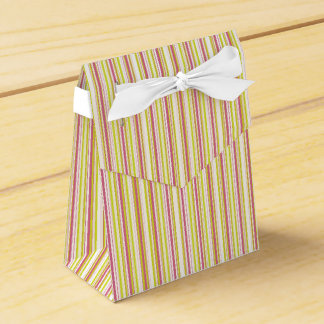 Pink and Mint Stripes Pattern Favor Box