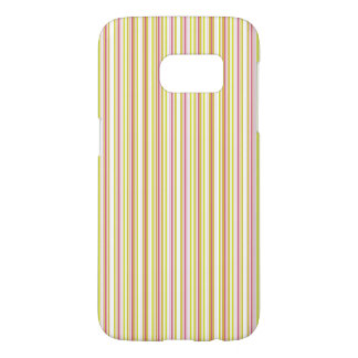 Pink and Mint Stripes Samsung Galaxy Case