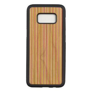 Pink and Mint Stripes Samsung Galaxy s8 Wood Case