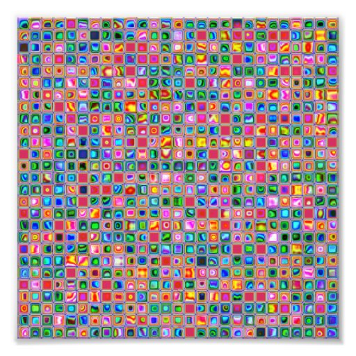 Pink And Multicolored Textured Tiles Pattern Photo