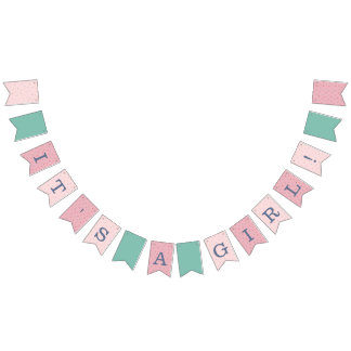 Pink and Navy Baby Shower Bunting