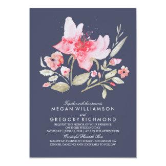 navy and pink wedding invitations announcements zazzle With navy and pink wedding invitations uk