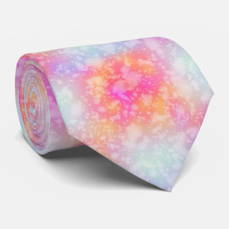Pink and Orange Abstract Watercolor Background Tie