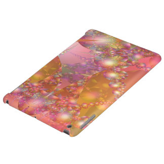 Pink and Orange Bubble Fractal iPad Air Cover