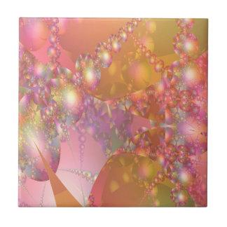 Pink and Orange Bubble Fractal Tile