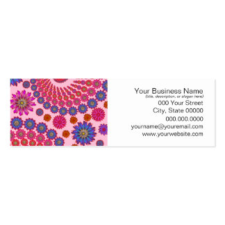 Pink and Orange Floral Abstract Art Pack Of Skinny Business Cards