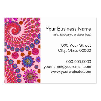 Pink and Orange Floral Abstract Art Pack Of Chubby Business Cards