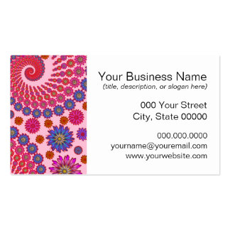 Pink and Orange Floral Abstract Art Pack Of Standard Business Cards