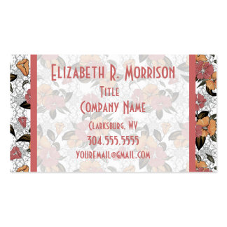 Pink and Orange Floral Pack Of Standard Business Cards