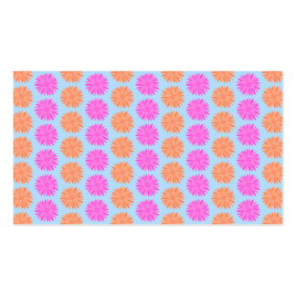 Pink and Orange Floral Pattern on Light Blue. Business Card Templates
