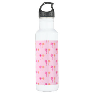 Pink and Orange Flower Pattern. 710 Ml Water Bottle