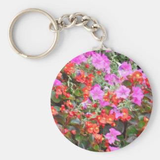 Pink and Orange flowers Keychain