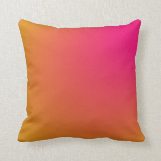 Pink and Orange Gradient Cushion