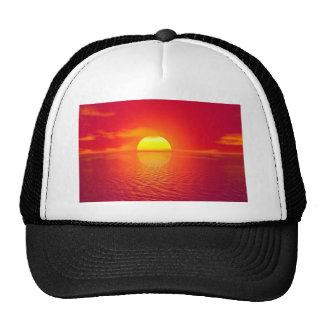 Pink and Orange Indian Ocean Sunset Cap
