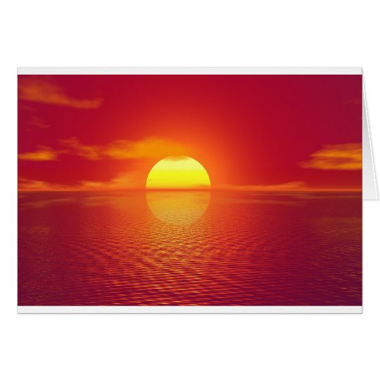 Pink and Orange Indian Ocean Sunset Card