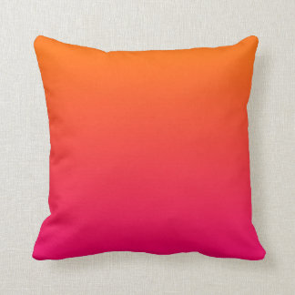Pink and Orange Ombre Cushion