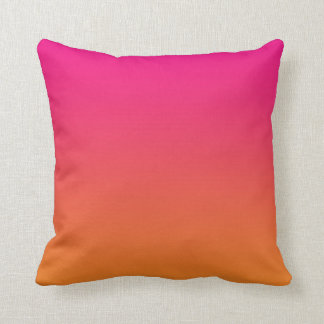 """Pink And Orange Ombre"" Throw Cushions"
