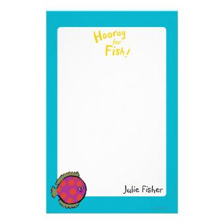 Pink and Orange Polka-Dot Fish Stationery