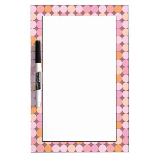 Pink and Orange Polka Dots Dry Erase Whiteboards