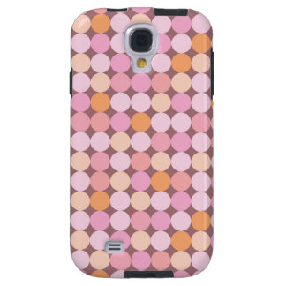 Pink and Orange Polka Dots Galaxy S4 Case