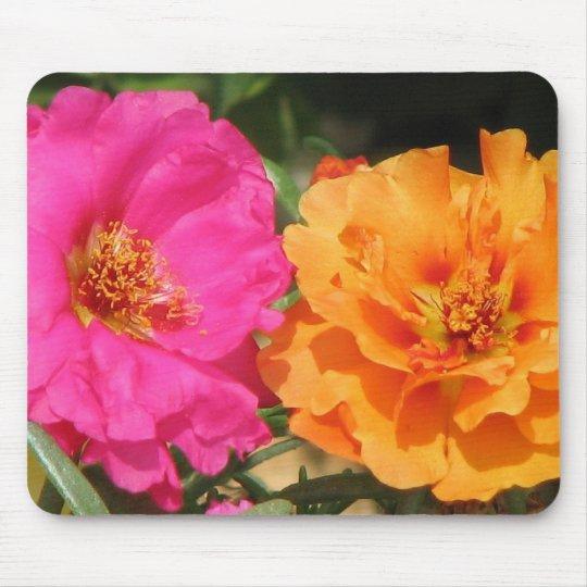 Pink  and Orange Portulaca Mouse Mat