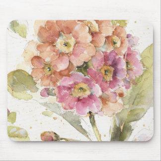 Pink and Orange Primrose Mouse Mat