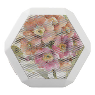 Pink and Orange Primrose White Bluetooth Speaker