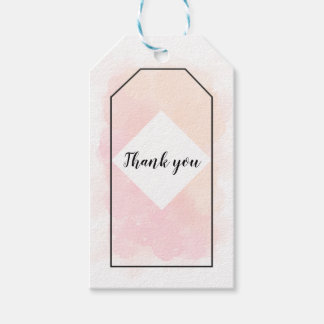 Pink and Orange Thank You Gift Tag