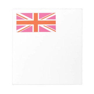 Pink and Orange Union Flag Notepad