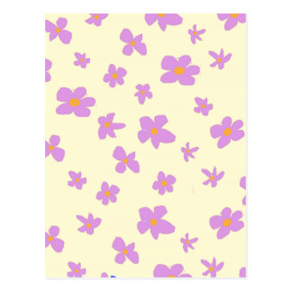 Pink and Pale Yellow Flowers Postcard